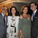 Julio Correa, da ABIH-RJ, Luciana de Lamare, da Turisrio, Ludmila Santana, do Hotel Santa Teresa, e Netto Moreira, do Fairmont