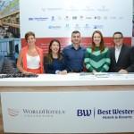 Karen Schmidt, Tiago Sagás, Camila Zucoloto, e Matt Teixeira, da BWH Hotel
