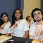 Larissa Cândido, Stefanie Trindade e Felipe Ribeiro