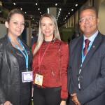 Lorena Santana, do Consórcio Brasil Central, Alice Maria Leão, da Adetuc, e Tom Lyra, presidente daAgência Tocantinense de Desenvolvimento do Turismo