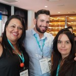 Luciene Batista, da Ludam Viagens, Romulo Souza, da Machado Turismo, e Francine Teixeira, da Balihai Turismo