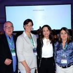 Luis Kraieski, do Festuris, Lucia Bentz, Rosa Helena, e Rita Vasconcelos, da  Abav-RS