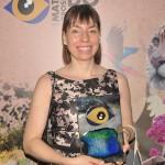 Luiza Coelho recebeu o prêmio na categoria Atrativos Turísticos representando o pai, Eduardo Folley Coelho