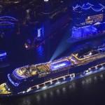 Em novembro aconteceu a inauguração do MSC Grandiosa, primeiro navio da classe Meraviglia Plus