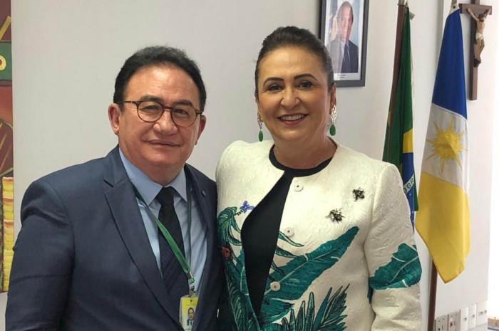 Manoel Linhares, Presidente da ABIH Nacional e a Senadora Kátia Abreu