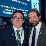 Manoel Linhares, da ABIH Nacional,e Guilherme Paulus, da GJP