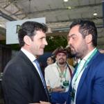 Marcelo Álvaro Antônio, ministro do Turismo, com o vice-governador do Rio de Janeiro, Claudio Bonfim Castro
