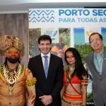 Marcelo Álvaro Antônio, ministro do Turismo , e Benedito Braga, subsecretário de Turismo da Bahia