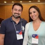 Marcelo Neder, da G. Tour, e Kelli Fernanda, da B4B Turismo