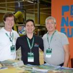 Marcelo Neves, da Empetur, Faniel Jacarandá, de Porto de Galinhas, e Josmar Almeida, da Paraná Turismo
