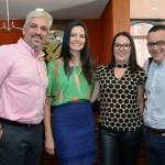 Marcelo Rolim, Camila Tambellini, Márcia Novaes e Edson Ruy, do Grupo Ancoradouro