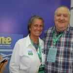 Mari Masgrau, do M&E; e Renato Carone, do Turnet Turismo