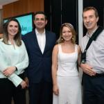 Mariana Trevizan e Jacqueline Conrado, da United, com Carlos Antunes e Christophe Didier, da Copa Airlines