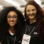Mayra Silva, da controladoria, e Cristina Meldola
