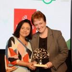 Monica Samia, da Braztoa, e Karen Lima, da Emirates