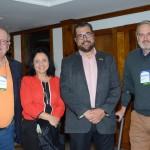 Monica Samia e Roberto Nedelciu, da Braztoa, entre Oswaldo Melantonio e Oskar Kedor, da Mobility