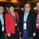 Naldo Góes e Arlenes Garcias, do Sandals & Beaches Resorts, Mauricio Vianna, da MV Hospitality, e Marcelo Zingalli, da Rossi & Zorzanello