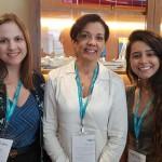 Nani Rodrigues, da Eventho Turismo, Ilzabete Ferreira, da Samatur, e Maria Gabriela Freitas, da Tellure Viagens