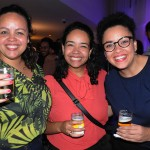 Nataly Moura e Flavia Lopes, da Condor Travel, e Mayara Silva, da Blumar
