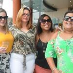 Nauana Alves, da Senatur Viagens, Juciara Evangelista, da Agaxtur, e Hosana Leandro e Luise Bonnomo, da LH Turismo