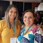 Nayara Martins, da Class Viagens, e Patrícia Lopes, da Poltrona 1