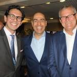 Netto Moreira, do Fairmont, com Marcelo Alves e Lucio Macedo, da Riotur
