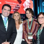 Newton Cardoso Jr, presidente da Comissão de Turismo, Marta Rossi, do Festuris, Natalia Pisoni e  Marcela Cuesta, da Inprotur