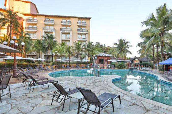 O complexo de piscinas do Nobile Resort Thermas de Olímpia, um dos hotéis que pode ser reservado durante a campanha