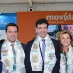 O ministro do Turismo, Marcelo Álvaro Antônio, entre Eduardo Zorzanello e Marta Rossi, do Festuris