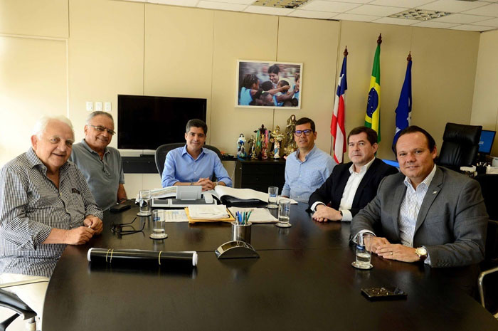 Os representantes do Pestana Hotel Group se reuniram com a Prefeitura de Salvador nesta segunda feira (18/11)