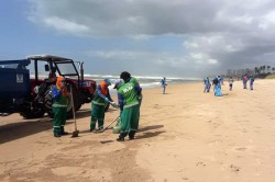 Salvador já recolheu mais de 127 toneladas de óleo de suas praias