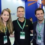 Paola Benevenuto, da Rossi & Zorzanello, Márvio Mansur, da Flytour Gapnet, e Eduardo  Zorzanello
