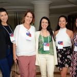 Paula Villalba, Gisele Abrahão, Aline Paschoal, e Antonella, da GVA, com Juliana Assumpção, da Aviesp