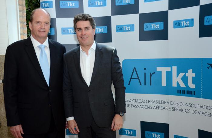 Ralf Aasmann e Juarez Cintra Neto, diretor executivo e presidente da AirTKT (Foto: Eric Ribeiro)