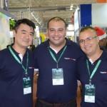 Rentao Kido, Leandro Roberto e Thiago Benatti, da Viagens Promo