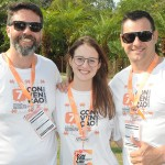 Ricardo Melo, Caroline Machon e Belmar Guedes, da Affinity do Rio Grande do Sul