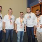 Ricardo Melo, Ricardo Astorino, Alexandre Lança, Maykon Lira e Gustavo Flachetto