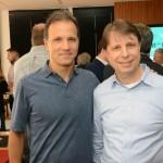 Roberto Oliveira, da Travel Ace, e Klaus Kühnast, da BekUp Soluções