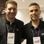 Rodrigo Rodrigues, diretor Comercial, e Alex Santos, gestor de vistos