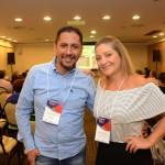 Ronaldo Coelho, da Ancoradouro, e Mariana Bellucci, da Local Turismo & Receptivo