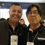 Ronaldo Melo, da Schultz PR e Pedro Shiray, gestor de aéreo