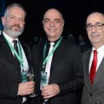 Roque Della e Marcelo Zingalli, da Rossi&Zorzanello, e Rodrigo Canielas, da CVC