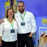 Rosângela Cruz e Diogenes Toloni, da Aerolineas Argentinas