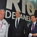 Roy Taylor, do M&E, com gobernador Wilson Witzel e secretário de Turismo, Otavio Leite