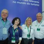 Rubens Régis e Raquel Conti, do Costão do Santinho Resort; Rosa Masgrau e Roy Taylor, do M&E