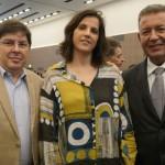 Sérgio Souza e Ana Biselli, da Resorts Brasil, e Alexandre Sampaio, da FBHA