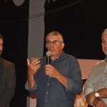 Silvio Andrade, vencedor na categoria Imprensa, ao lado Bruno Wedling e Reinaldo Azambuja