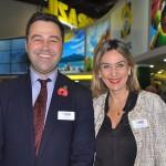 Simon Press, diretor da WTM Londres, com Luciane Leite, diretora da WTM-LA
