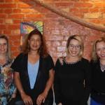 Simone Rodrigues, da Flot Viagens, Marcia Bejo, da Primordial, Gabriela Cruz, da 55 destinos e Débora Marques, da Turismo Visual