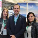 Tereza Bandeira, da ABIH-AL; Jair Galvão, secretário de Turismo de Maceió; e Sandra Villanova, da Sedetur